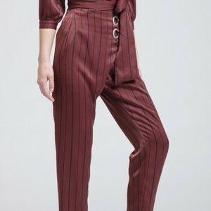 JOA satin high waist cropped pants bottom sz small